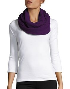 Lord & Taylor Cashmere Infinity Loop Scarf Women's Mulberry
