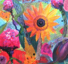 Detail, Keep Blooming, mixed media, www.melaniebirk.com
