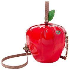Betsey Johnson Kitsch Big Red Apple Crossbody ($78) ❤ liked on Polyvore featuring bags, handbags, shoulder bags, red, red purse, white shoulder bag, betsey johnson purses, crossbody shoulder bags and crossbody handbag