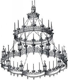 Vintage Gothic Chandelier! - The Graphics Fairy