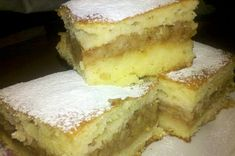 Prajitura pufoasa cu mere si iaurt Agendautila Romanian Desserts, Sweet Treats, Cheesecake, Deserts, Food And Drink, Sweets, Recipes, Pastries, Apples