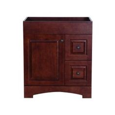 Summit 30 in. W x 21.8 in. D x 34.3 in. H Vanity Cabinet Only in Auburn-SUSD30COM-AU at The Home Depot