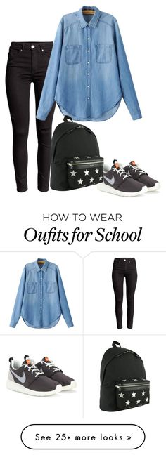 """School"" by meloprea on Polyvore featuring NIKE, Chicnova Fashion, Yves Saint Laurent, women's clothing, women, female, woman, misses and juniors"