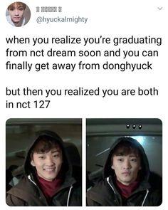 NCT memes for good life✌ K Pop, Nct 127, Nct Life, Funny Kpop Memes, Mark Nct, Kpop Guys, Lol, Soyeon, Fandoms