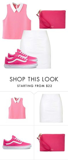 """""""Pink 😊"""" by jasmine077 ❤ liked on Polyvore featuring Topshop, Vans and FOSSIL"""