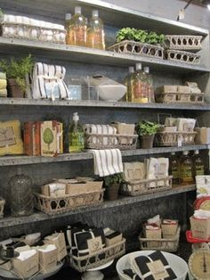 Great idea and I think I'll add some wire baskets and vintage milk and soft drink cases to help organize and transport.