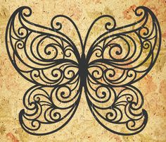 Butterfly SVG, dxf, png, eps, cdr, print and cut files,  Cricut, Silhouette, tattoo design, tshirt designs, home decor, scroll saw stencil