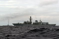 The Russians are being shadowed by the HMS Richmond, with the Admiral Kuznetsov, belching ...