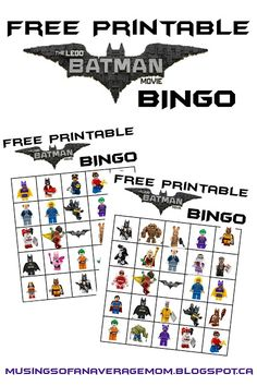 Musings of an Average Mom: Lego Batman Bingo