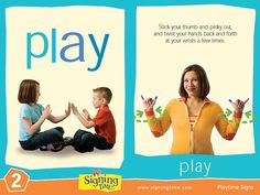 Learn how to sign play in ASL (American Sign Language). Now twist them back and forth. Can you sign play? Sign Language For Kids, Sign Language Alphabet, Learn Sign Language, American Sign Language, Speech And Language, Autism Learning, Kids Learning, Learn To Sign, Toddler Teacher