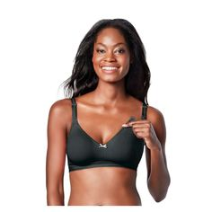 ff275247ed731 Bravado! Designs Women s Sweet Pea Nursing Bra - Black Licorice 36B C