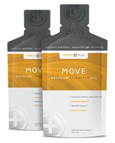 THRIVE Plus SGT Move - Thrive Plus Move Gel - Move features Sequential Gel Technology that supports healthy joint function, mobility, flexibility and more.