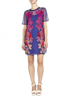 Ombre Wing Organza Embroidered Dress  - Dresses - Matthew Williamson