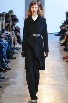 Navy coat + belt - Theory F/W 2014 - Prepaganda