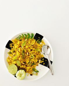 There's nothing as tasty as poha... fried up with lots of those fresh curry leaves chilli mustard seeds turmeric peanuts and lime. One of those five minute lunches to make you happy all day   #spicemama #indian #food #indianfood #perthfood #perthfoodie #indianfoodbloggers #heresmyfood #gloobyfood #saveur #eattheworld #huffposttaste #meatfree #eattherainbow #feedfeed #f52grams #beautifulcuisines #homecooking #realfood #healthyfood #healthyeating #lifeandthyme