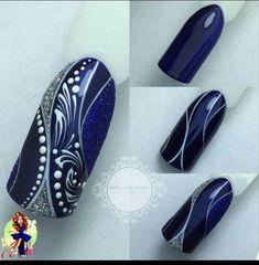 Acrylic Nail Art Design for the summer to enhance your looks blaue Nägel Nail Art Violet, Purple Nail Art, Blue Nails, New Nail Art, Acrylic Nail Art, Fabulous Nails, Perfect Nails, Nail Art Designs, Diy Nails