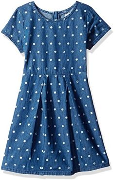 Splendid Little Girls Dotted Denim Dress Print 45 *** To view further for this item, visit the image link.Note:It is affiliate link to Amazon.