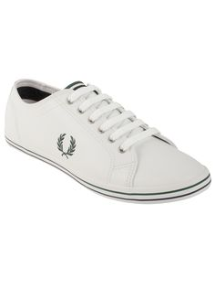 Fred Perry Men's Kingston Leather in White Crafted in soft leather, these classic style sneakers feature twin tipping details on the tongue and soles. Theyre also lined with herringbone canvas and the look is finished off with a Fred Perry signature Laurel Wreath. They have a vintage look, but with a clean modern flair. Stay comfortable and classic by stepping into a pair of Kingston Leather shoes.