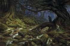 Merry and Pippin in Fangorn Forest - Donato Giancola