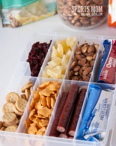 Jewelry Making Storage Container - - This is probably my all time favorite because I can just grab it and go.   I keep it filled with snack items that don't need to be refrigerated.  I particularly like it because the compartments are long enough for granola and cereal bars.  You just want to make sure it seals well, so the snacks don't get stale quickly or mix together when you are moving it around.
