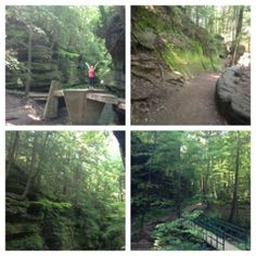 hiking in Ohio.  Hocking Hills Hikes. THings to do in Ohio.  husband and harmony: the last place in the world I thought we would go hiking.