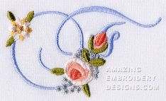 Amazing Embroidery Designs  Letter F