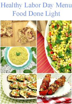 For the last summer holiday of the year, fire up the grill and try these healthy recipes perfect for a potluck or BBQ party.