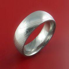 Damascus Steel Ring Wedding Band Genuine Craftsmanship - Stonebrook Jewelry  - 3