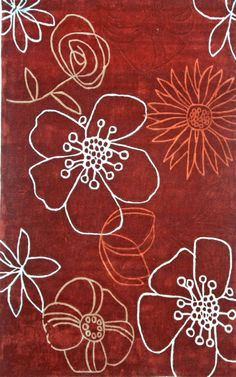 nuLOOM Red Dandelion | Contemporary Rugs
