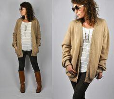 PENDLETON 70's 80s WOOL Cardigan Sweater Oversized by ItaLaVintage