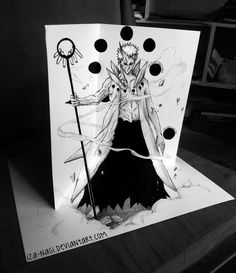 Obito Unleashed - by Iza-nagi on DeviantArt Guy Drawing, Drawing Tips, 3d Drawings, Mind Blown, Anime Guys, Paper Art, 3 D, Art Projects, Character Design
