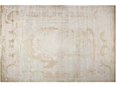 Tapis fait main rectangulaire FONTENAY NEW AGE PLATINE by EDITION BOUGAINVILLE