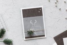 Eine weihnachtliche Karte mit einem Rentier, welche mit dem Stempelset Freude im Advent und dem Designerpapier Kaffeepause gebastelt wurde