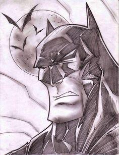 Batman Sketch Shot by StevenSanchez.deviantart.com on @deviantART