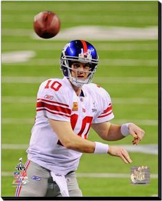 Eli Manning New York Giants-16 x 20 HD Photo on Gallery Wrapped Stretched Canvas