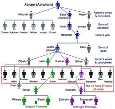 Genealogy of Abraham to the Twelve Tribes.