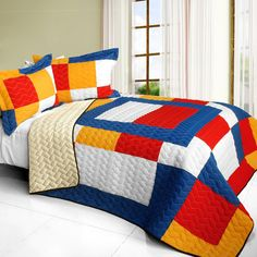Rock Paper Scissors Quilt Set (Full/Queen Size)