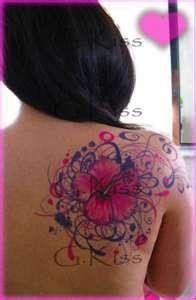 hibiscus flower tattoos designs