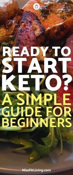 Looking to start the ketogenic diet? This simple guide for beginners will help you if you are starting keto and make sure you stick with it. #ketogenicdiet