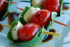Caprese Skewer http://www.thedailymeal.com/entertain-power-panel-experts-signature-appetizers-slideshow