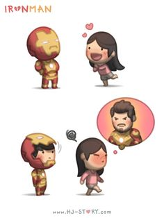 Check out the comic hj-story :: iron man Hj Story, Cute Couple Comics, Couples Comics, Cute Love Cartoons, Cute Cartoon, Cute Love Stories, Love Story, Ah O Amor, Desenhos Love