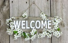 Holiday Welcome Sign Stock Photo 61613569 - Megapixl