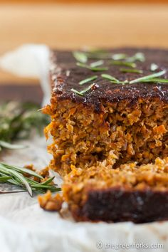 Lentil Nut Loaf- Egg and Soy Free! #vegan