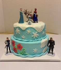 disney frozen birthday cake | frozen birthday cake 8 10 inch cakes with buttercream and mmf accents ...