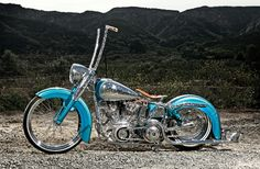 When people ask Daniel Sosa why he choose a 1974 Harley Shovelhead instead of a brand new bike he says it's because it has more soul and more heart. Custom Bobber, Custom Harleys, Custom Motorcycles, Custom Bikes, Custom Softail, Victory Motorcycles, Harley Softail, Sportster Chopper, Bobber Bikes