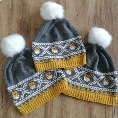 Knitted Hats, Winter Hats, Knitting, Fashion, Knit Hats, Tricot, Fashion Styles, Knit Caps, Stricken