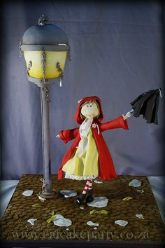 Singing in the rain 3D The lamp and girl are cake, stands 75cm tall.