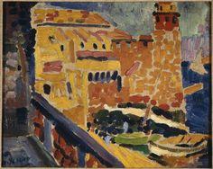 yama-bato:   Le phare de Collioure  Auteur: Derain André (1880-1954) http://www.photo.rmn.fr/