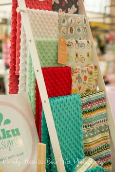Baby blankets craft display.