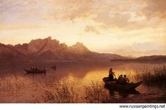 Hans Gude (1825-1903): Drachenwand on the Mondsee, 1872, private collection